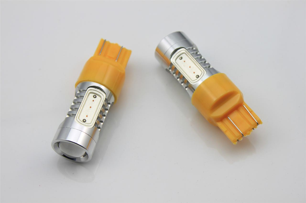 2x birne w21w 7443 7440 t20 wy21w led 7 5w 5 smd lampe blinker gelb orange 12v ebay. Black Bedroom Furniture Sets. Home Design Ideas