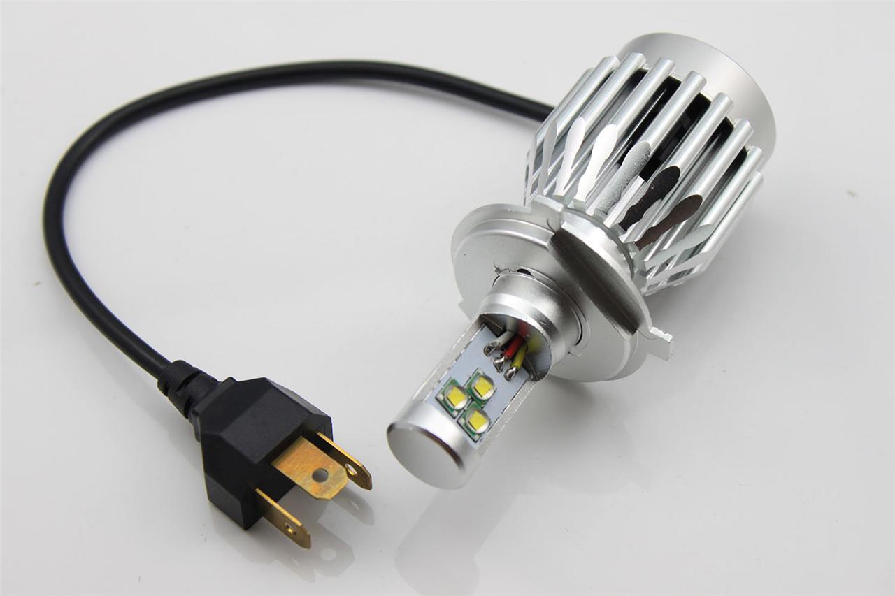1x motorcycle bike 3600lm h4 30w cree led headlight h l head beam bulb white. Black Bedroom Furniture Sets. Home Design Ideas