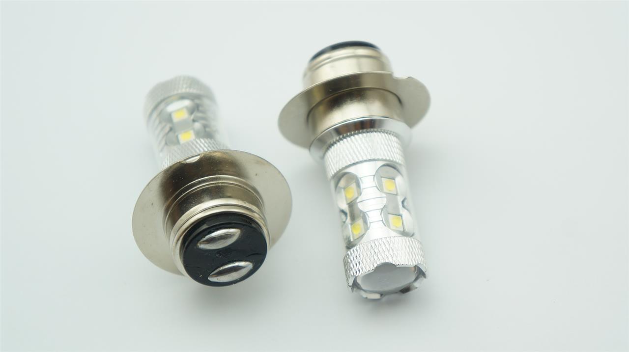 Sales 2x 50w Led P36d Dual Motorcycle Headlight Fog Light Bulb White P414 12v Ebay