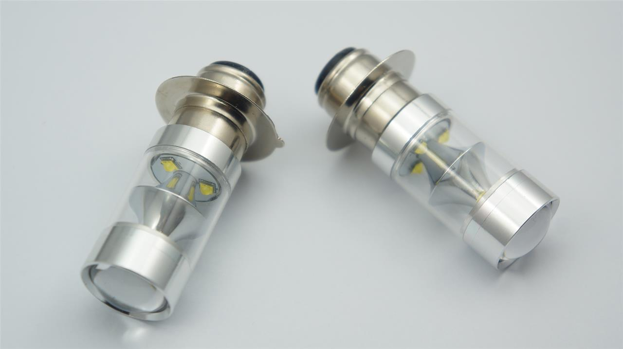 Motorcycle Headlight Socket : P d cree led w white bulb motorbike motorcycle