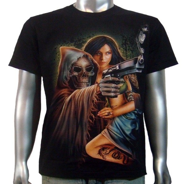 Grim Reaper Sexy Dragon Tattoo Girl Magnum BB Handgun Mens