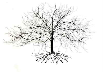 contemporary metal wall art oak tree ebay