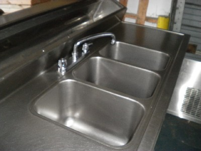 Used Stainless Sink : Sink with Fridge restaurant appliances stainless steel eBay