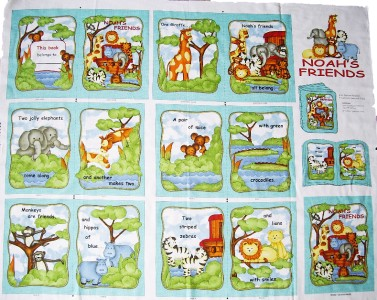 Childrens kids baby fabric quilting sewing book panel for Children s material sewing