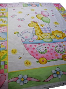 Childrens kids baby fabric quilting sewing blanket panel for Children s fabric panels