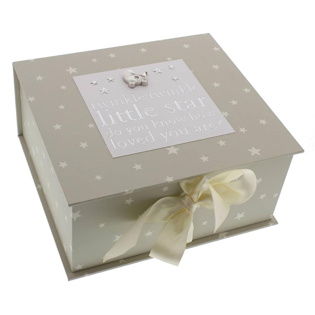 Baby Gift Keepsake Box : Baby keepsake box with icons gift cg