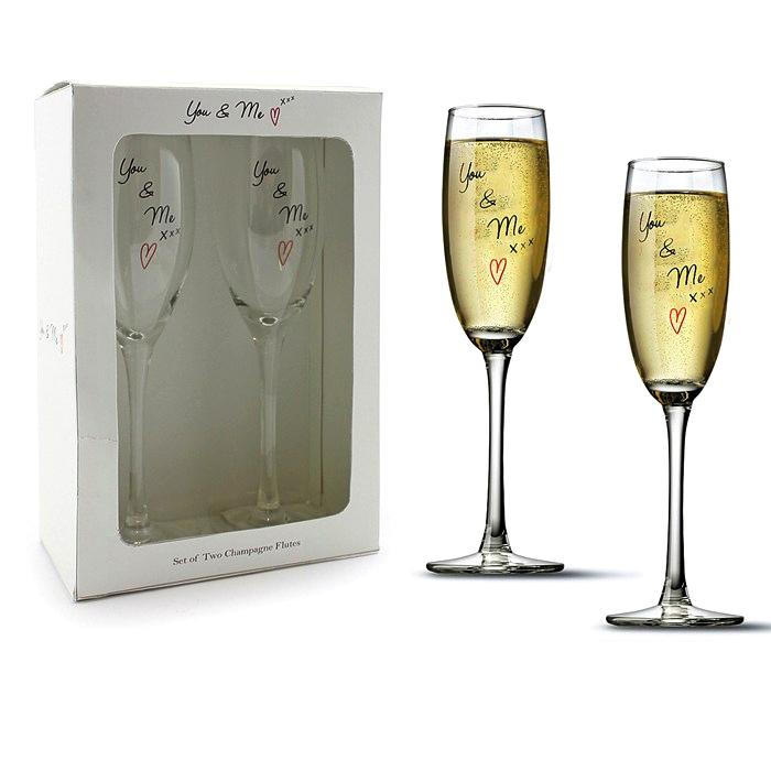 Wedding Gift Champagne Glasses : Details about Wedding Gift Champagne Glasses Toasting Flutes You and ...