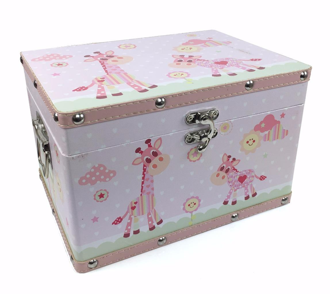Baby Gift Keepsake Box : Baby girl gift wooden keepsake box pink leatherette bonded
