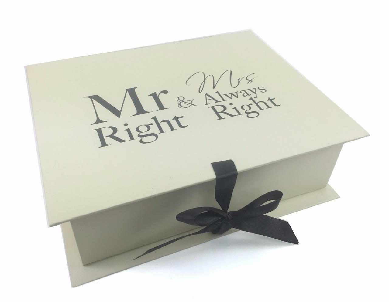 Wedding Gift Keepsakes : Details about Wedding Gift Keepsake Box With Mr and Mrs Right LP71483