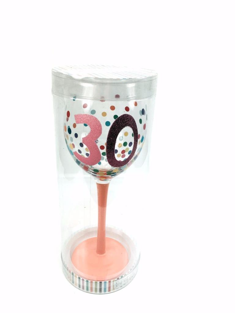 30th birthday gift bright polka dot collection wine - Funky champagne flutes ...