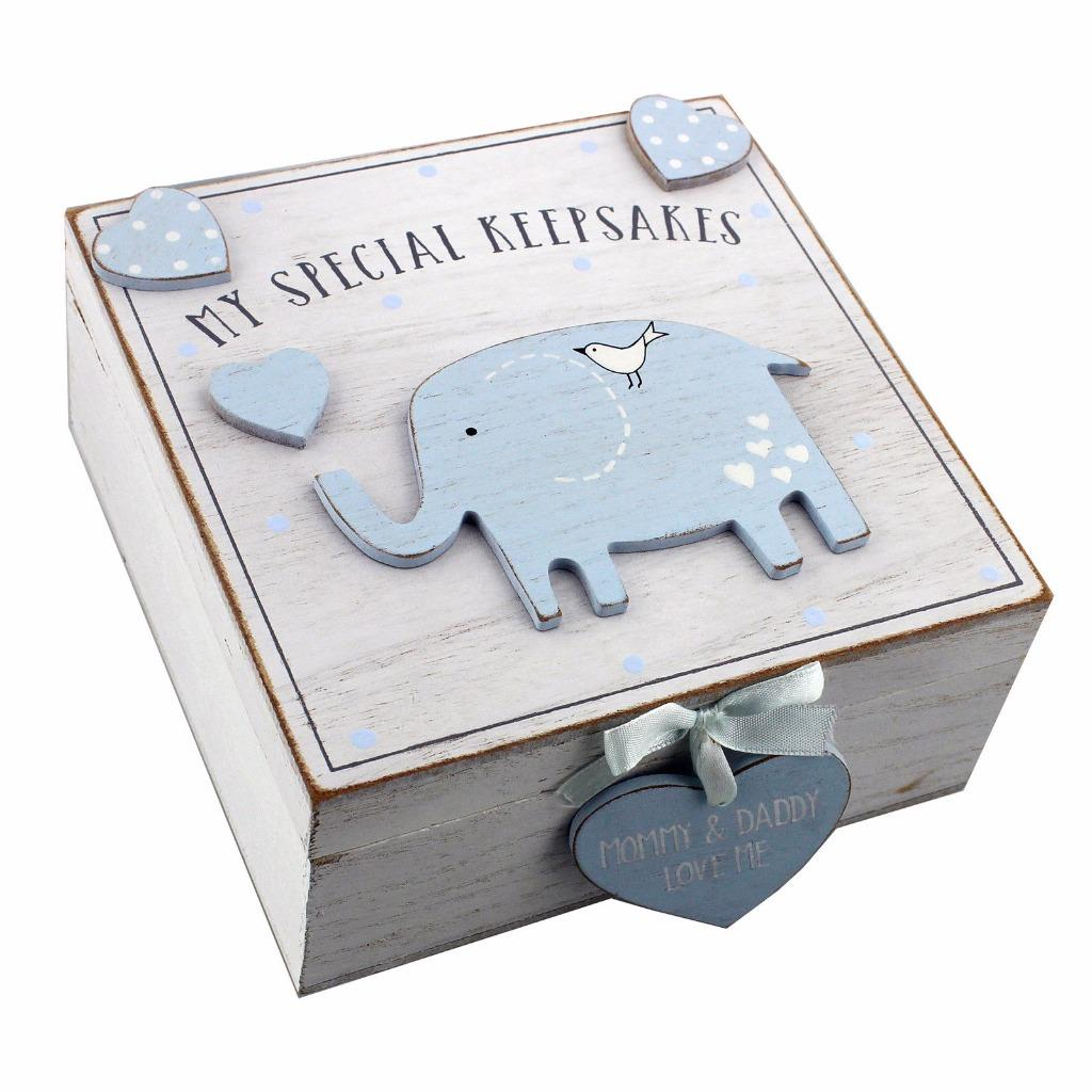 Baby Gift Keepsake Box : Baby boy wooden memories keepsake box vintage style