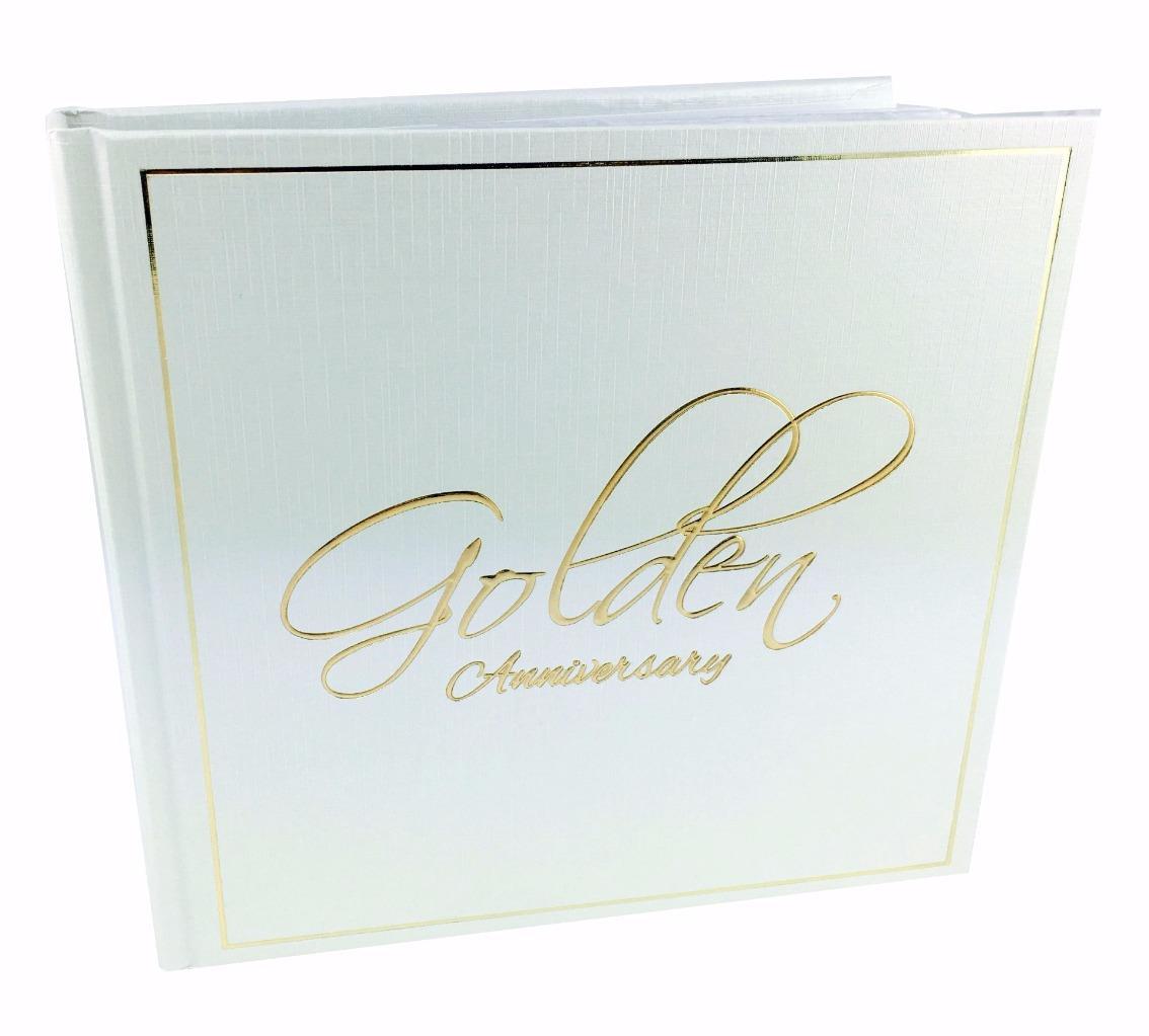 50th Golden Wedding Anniversary Elegant Photo Album Gift 4x6 66845