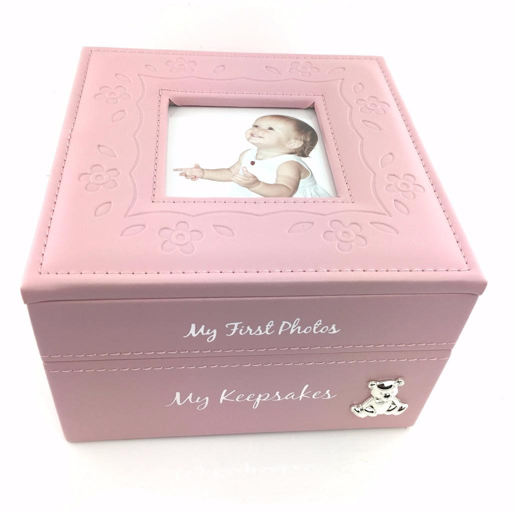 Baby Gift Keepsake Box : Baby girl keepsake photo box gift new