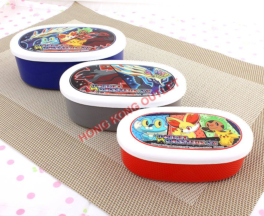 pokemon pikachu pocket monsters bento lunch snack box 3pcs set a7c ebay. Black Bedroom Furniture Sets. Home Design Ideas