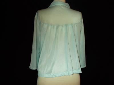 Details about Vintage Penneys Gaymode Blue Bed Jacket M $20.95
