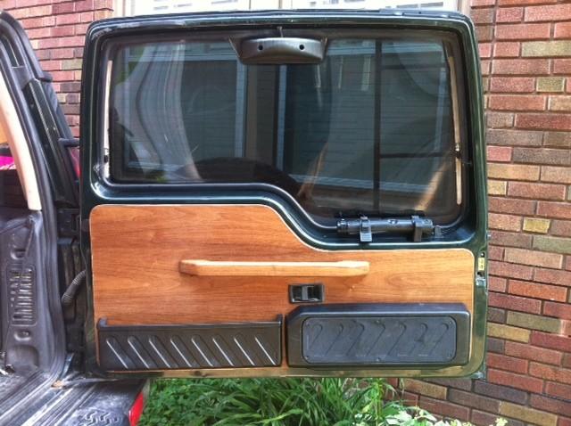 Walnut Rear Gate Door Panel Custom Handle Land Rover