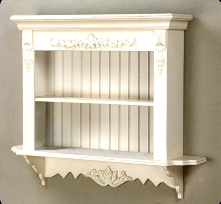 French-Shelf-Wall-Shabby-Chic-Display-Country-Wood-Carved-Shelves ...