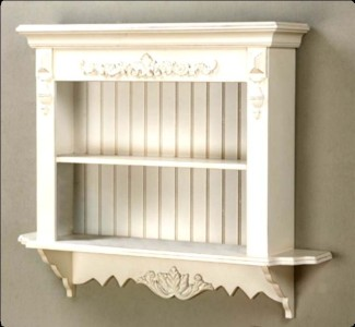 New Lge French Wall Shelf Country Shabby Chic Display Ebay