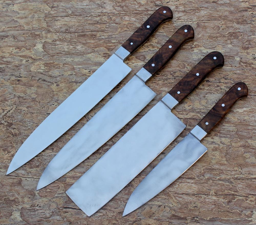 Custom Handmade Knife Carbon Steel Chef Knives Set