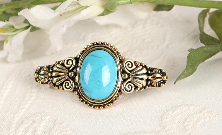 Turquoise Gold GP Hair Barrettes Clips pins Jewelry Accessary gi249