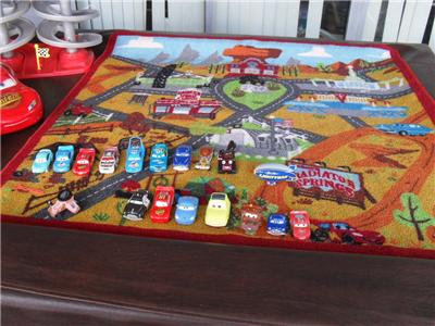 Huge Lot Disney Pixar Cars Play Rug Sdway 20 Rusteze Moving Eyes Wow Euc