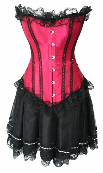 Burlesque-Moulin-Rouge-Corset-Skirt-Fancy-Dress-Outfit-Costume-Many-styles