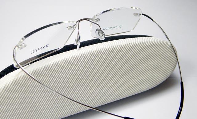 Rimless Screwless Eyeglass Frames : Rimless TITANIUM eyeglass frame men Super light weight ...