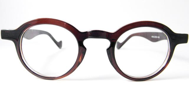 Eyeglass Frames For Small Round Face : Vintage small Round brown MEN WOMEN EYEGLASS FRAMES ...