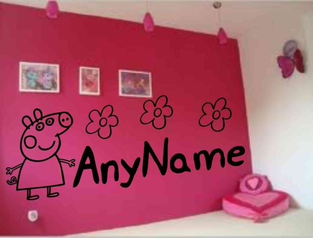 PEPPA-PIG-ANY-GIRL-BOY-NAME-WALL-ART-STICKER-BIG-10cm
