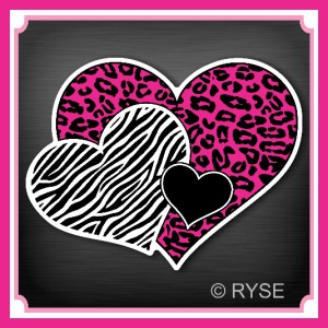 Zebra Print Backgrounds Stripe Heart Pictures