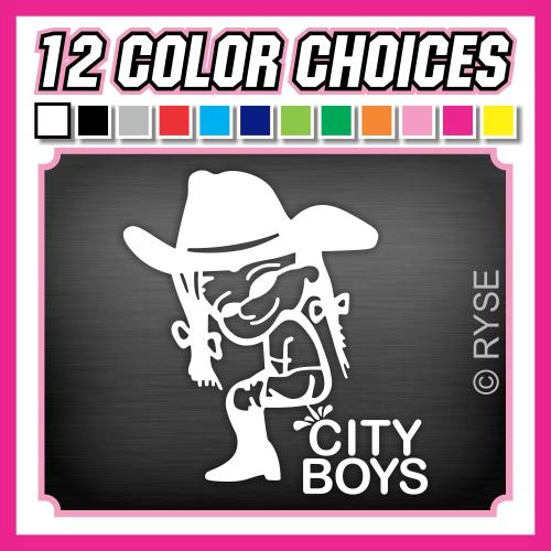 Cowgirl Pee City Boys Decal Country Girl Sticker Hunt ...