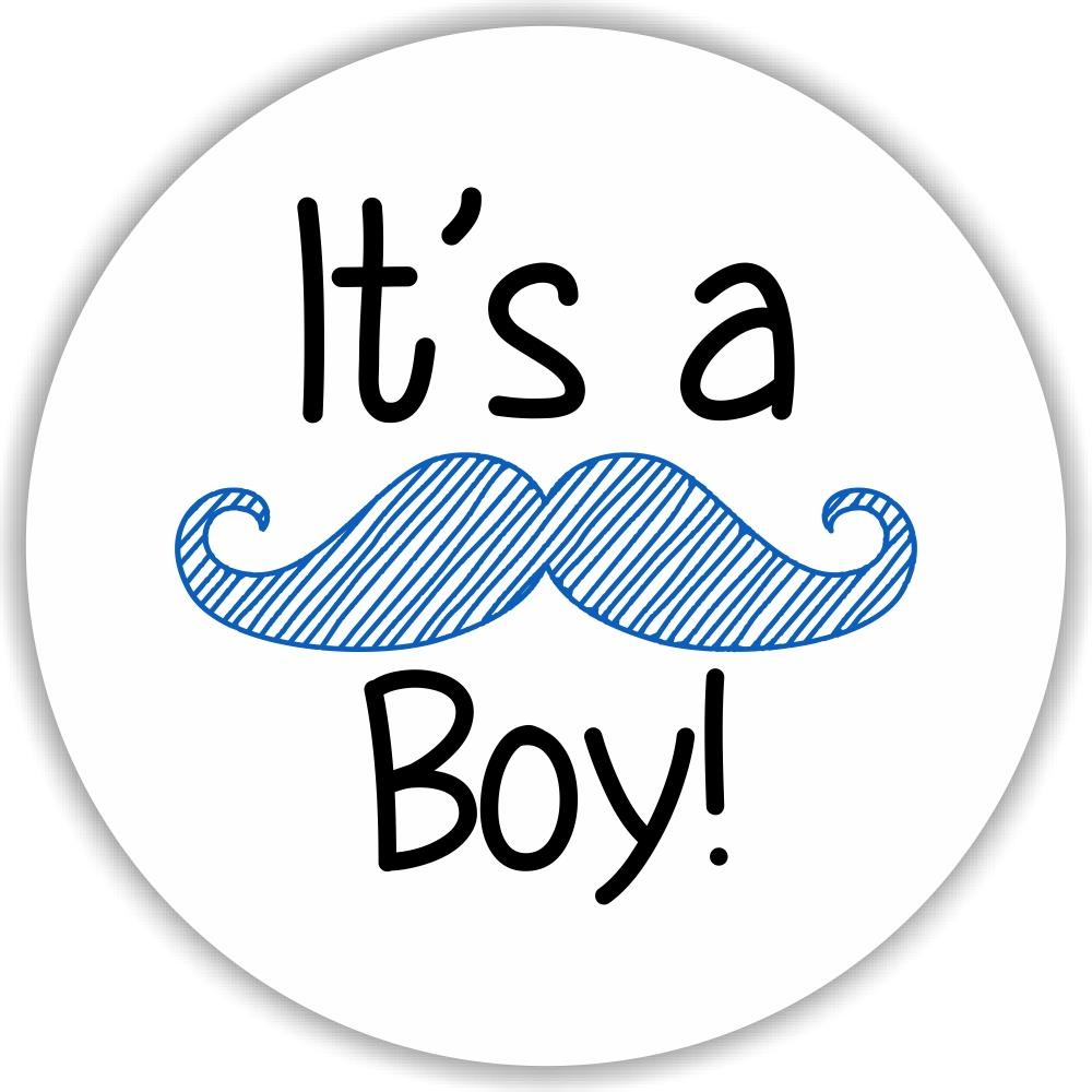 108 its a boy mustache sticker label baby shower party