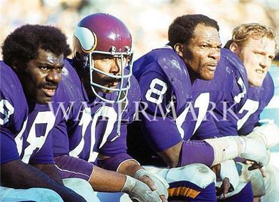 Purple People Eaters Alan Page Carl Eller Vikings Bench