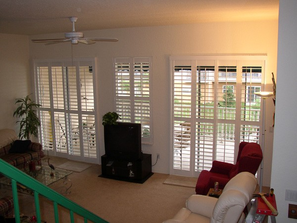 Plantation Shutters for Sliding Door 600 x 450