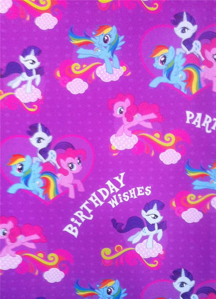 My Little Pony Purple Wrapping Paper Gift Wrap