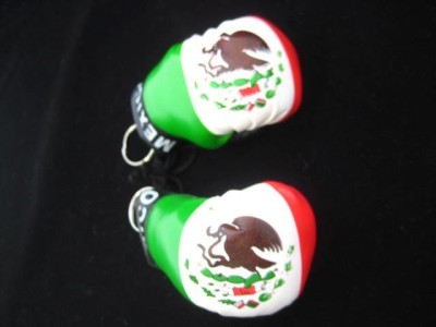 NEW MEXICAN FLAG MEXICO BOXING GLOVE KEYCHAIN KEY CHAIN