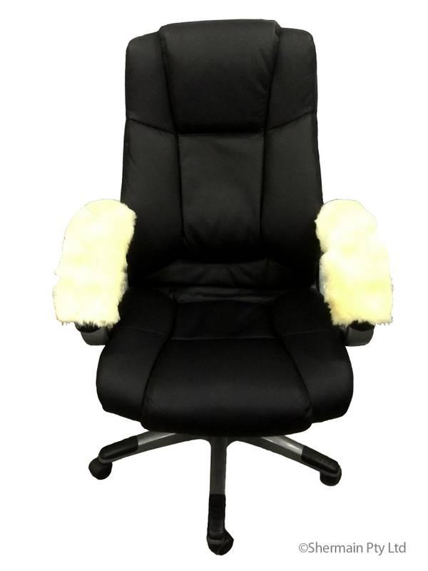 Medical Sheepskin Armrest Cover fice Arm Chair