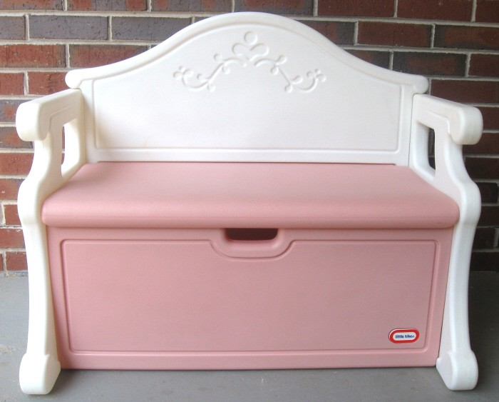 little tikes victorian toy box bench book case pink retired htf pick up only