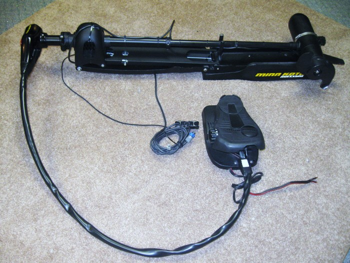 Minn kota maxxum 80 bg trolling motor 24v 80lb 42 foot for Minn kota foot control trolling motor