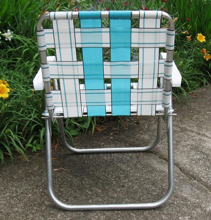 NICE Sunbeam Webbed Aluminum Folding Lawn Chair Patio Beach Camping Tailgati