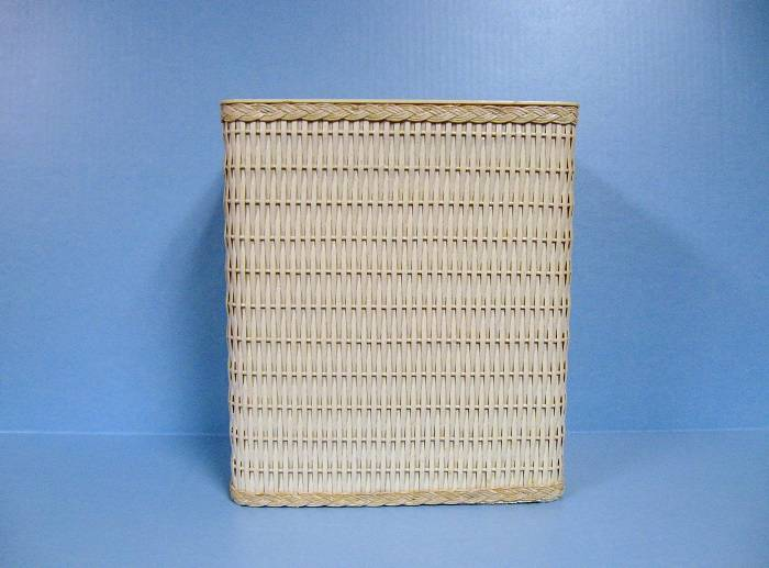 Vintage wicker trash can waste basket white 12 tall ebay - Wicker trash basket ...