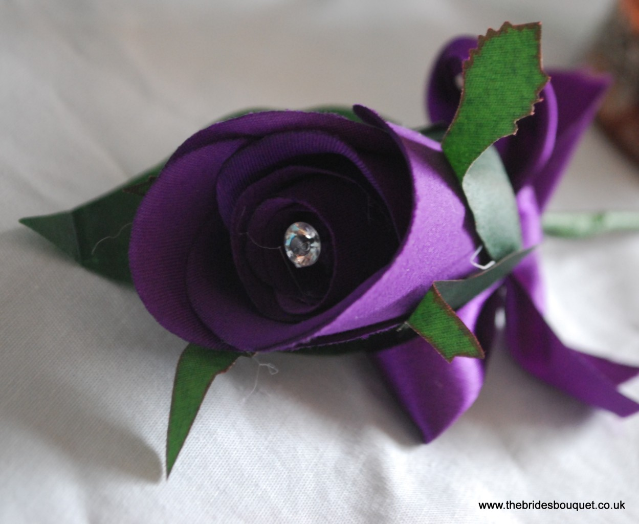 Cadbury Purple Silk Wedding Flowers : Cadburys purple silk rose buttonholes wedding flowers
