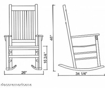 Details about Ben Franklin Outdoor Rocking Chair - New, Weatherproof