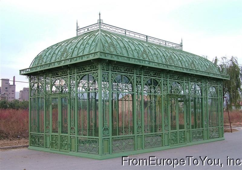 victorian style cast and tubular iron greenhouse ebay. Black Bedroom Furniture Sets. Home Design Ideas