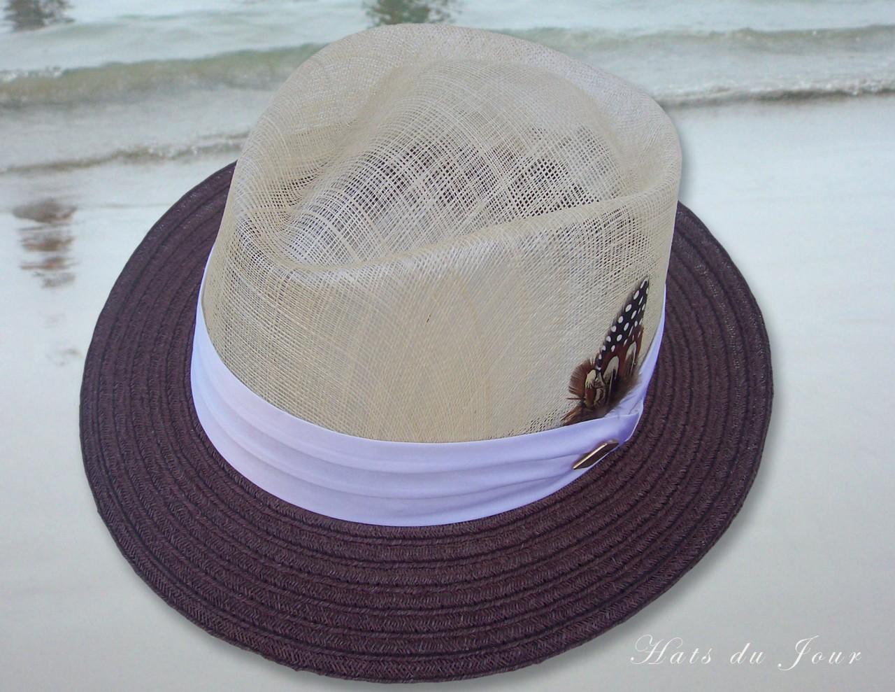 Stacy-Adams-Cream-Sinamay-Straw-Fedora-Style-Dress-Hat