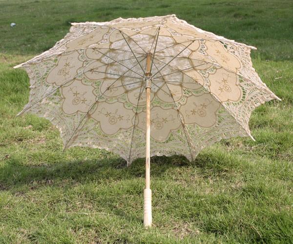 Cream Lace Parasol - Wedding Umbrella, Wedding Umbrella, Bridal