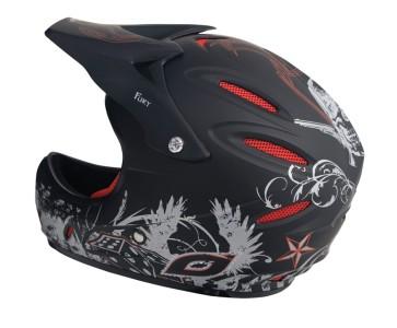 Neal Fury Full Face Downhill Freeride BMX Helmet Size Large