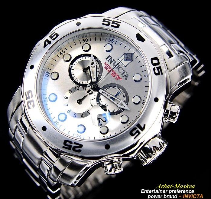 invicta mens pro diver collection chronograph silver
