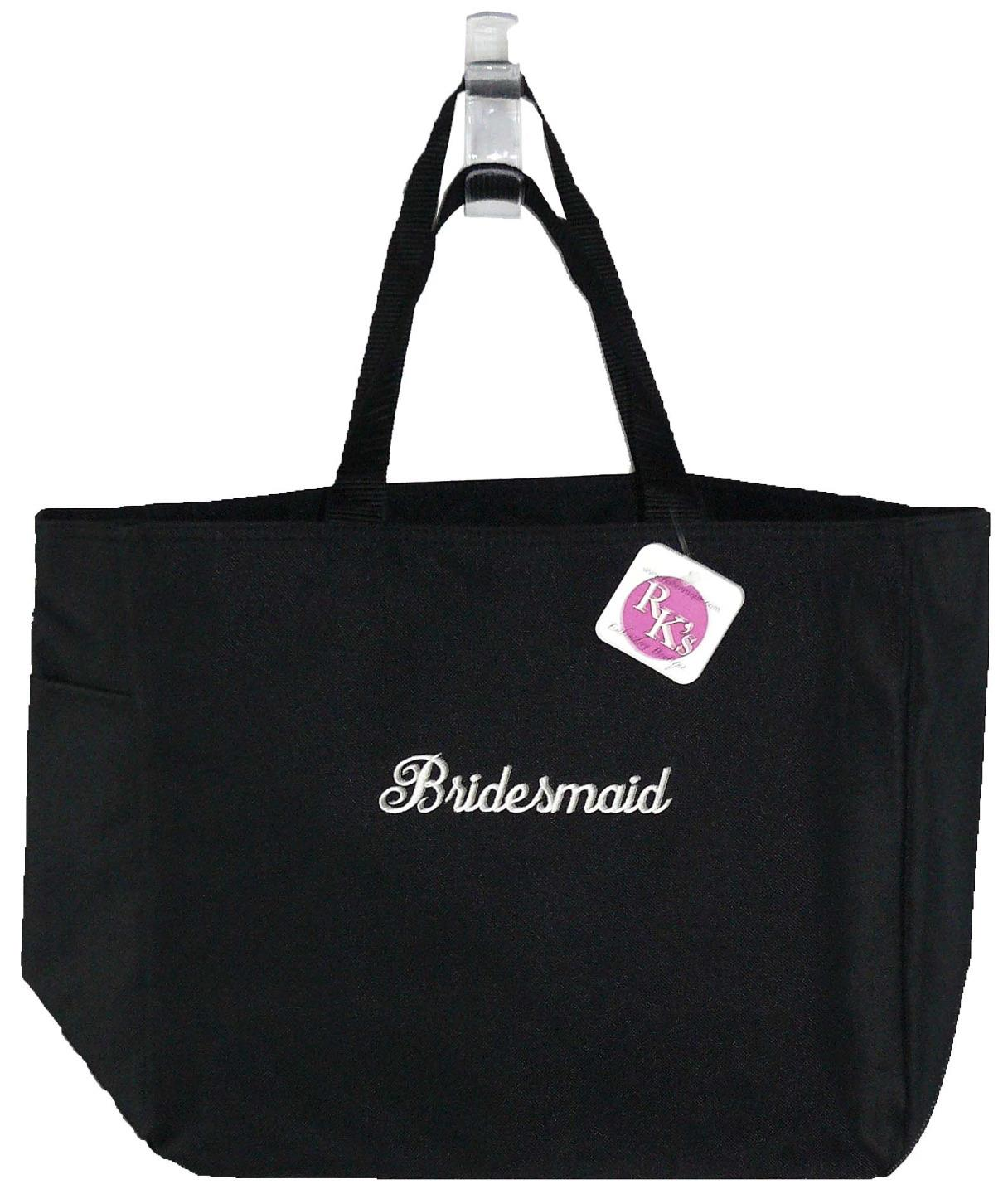 Bridesmaid Wedding Party Custom Monogram Embroidered Essential Tote Bag NWT