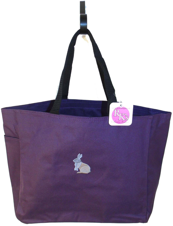 Bunny Rabbit Silhouette Easter Monogram Custom Embroidered
